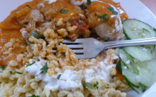 chicken paprikash with nokedli