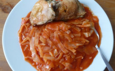 hungarian cabbage in tomato sauce