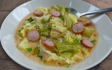 Savoy cabbage and frankfurter hungarian recipe