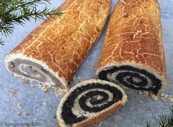 Hungarian walnut poppyseed bejgli