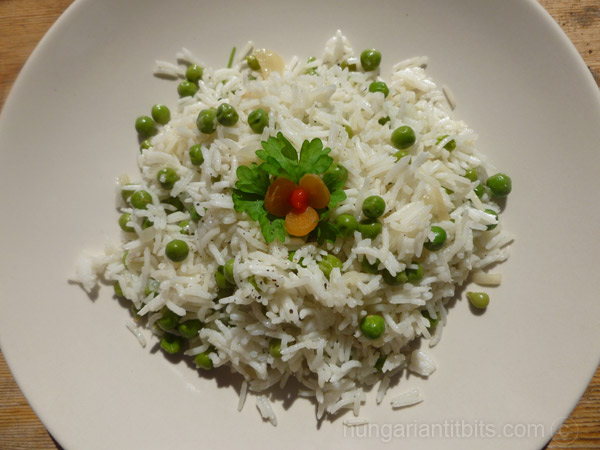 Rizibizi, Rice with Peas