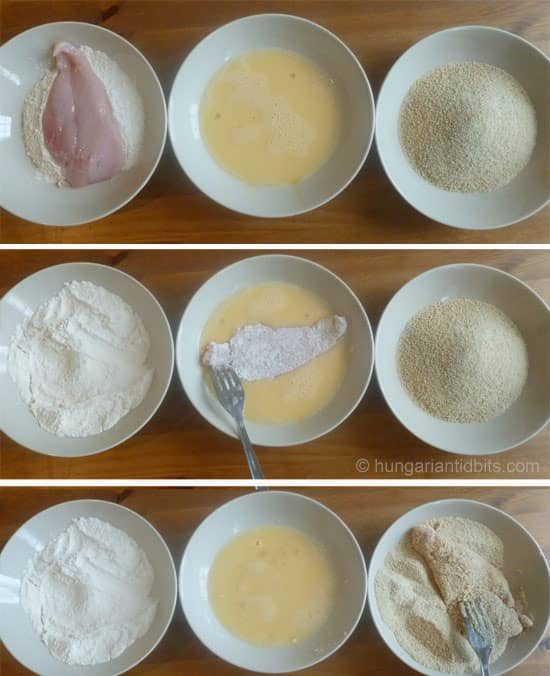 breaded meat step by step