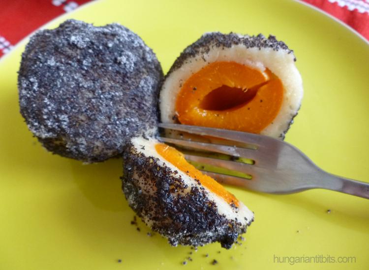 poppy seed apricot dumplings