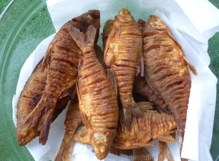 Fried Bream at Lake Balaton